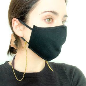 Face Mask Chain / Beaded Mask Dainty Gold Chain